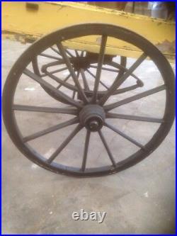1840s London Market Cart Barrow vintage antique yellow black rare collectors