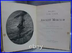 1889 ANCIENT MARINER Gustave Dore COLEDRIDGE 1st Ed Antique Book POETRY Vtg RARE