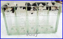 1920's ANTIQUE V RARE ORIGINAL VINTAGE CAR 10V EXIDE GLASS BATTERY, ENGLAND