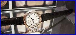 1929 V Rare Antique Vintage Harwood Bumper Auto Solid 9 Carat Gold Watch Working