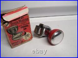 1950s Antique nos Automobile Suicide / Spinner Knob Vintage Chevy Ford Jalopy