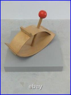 1960s ORIGINAL VINTAGE RARE RED BALL BENT PLY ROCKER CREATIVE PLAYTHINGS USA