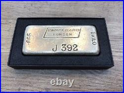 1 kilo Engelhard London Rare And Collectable Silver Vintage Bullion Bar Antique