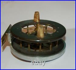3172 Rare Old Antique Vintage ALLCOCKS AERIAL PRESENTATION FISHING REEL 1910