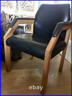 A Rare Vintage Art Deco Style Leather Desk chair Armchair believed French