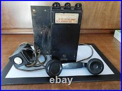 Antique Rare Pay Telephone Western Electric/gray Model 14 1914 Vintage 3 Slot