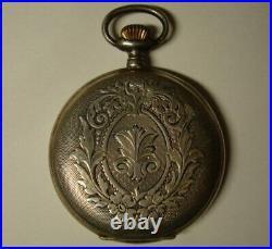 Antique Rare Vintage Pocket silver. Watch INVICTA. Switzerland. 1910s