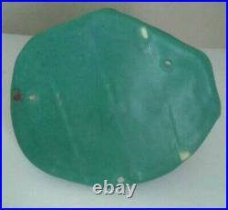Antique Vintage Art Pottery Zanesville Ohio Green Matte Frog Planter RARE LOOK