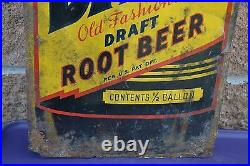 Antique / Vintage Dad's Old Fashioned Draft Root Beer Sign Rare