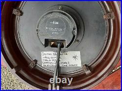 ENGLISH 1950s SMITHS Vintage Bakelite Wall Clock. Rare visual chevron feature