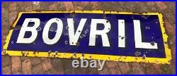 Enamel Sign Bovril Original Vintage Rare Old Antique Advertising Pub Railway