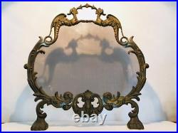 French vintage Japanese Dragons Fireplace screen copper gothic castle rare