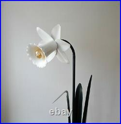 ICONIC & RARE 80s POSTMODERN BLISS DAFFODIL FLOWER FLOOR LAMP, Vintage Space Age