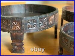 Indian Carved Grinder Chakki Tablerare Vintage Originalhandcraftedlarge Size