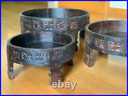 Indian Carved Grinder Chakki Tablerare Vintage Originalhandcraftedmedium Size