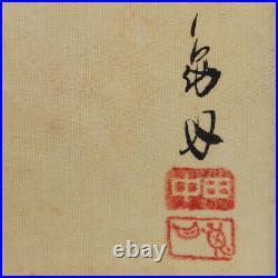 JAPANESE PAINTING ART Wisteria CARP HANGING SCROLL OLD JAPAN VINTAGE RARE 764p