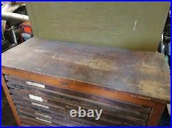 Joyce and company printing materials Vintage Printers Type Set Cabinet rare