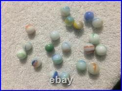 Lot Of 20 Old Vintage Rare Antique Marbles Beautiful Nice Estate Sale (Unknown)