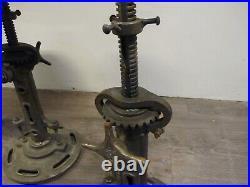 Lot X 3 Rare Vintage Adjustable Machinist Stools For Restoration, A. J Not Singer