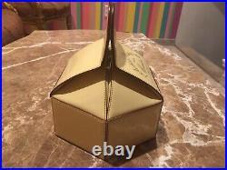 Moschino Rare Vintage Antique Bag Clutch Leather Pastry Box ANTICA PASTICCERIA