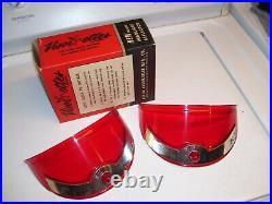 Original 1950s nos Headlight Visorettes Vintage GM Chevrolet Ford Harley Dodge