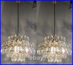 Pair Of Vintage By Bakalovits Austrian Crystal Chandelier Lusters 1960-69 Rare