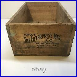 Pflueger Fishing Crate RARE Shipping Box Crate Wood Vintage Antique