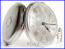 Pocket Watch 1900s Antique Silver Vintage Rare Cartouche
