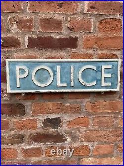Police Sign Not Enamel Sign Original Old Rare Advertising Antique Vintage Retro