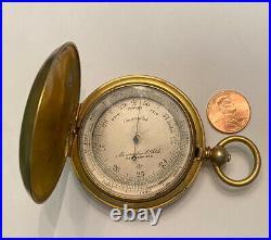 RARE ABERCROMBIE & FITCH Co VINTAGE BAROMETER Old Antique Pocket Watch Case