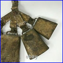 RARE Antique Ludwig & Ludwig Octave of Cowbells Set w Mount VTG Early 1900s
