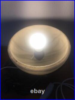 RARE Antique Vintage Art Deco Light Lamp Brass Coloured Hands Onyx Marble Globe