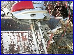 RARE ORIGINAL ANTIQUE VINTAGE 1950s MUNCIE NEPTUNE MIGHTY MITE OUTBOARD MOTOR