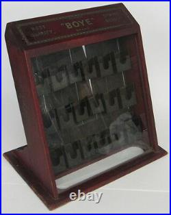 RARE Vintage Boye Needle Countertop Store Display Case Sewing Cabinet Antique