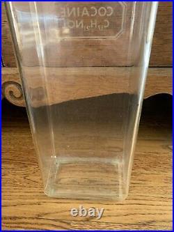 RARE Vintage Huge Pyrex Cocaine Lab Pharmacy Jar 1 1/2 Foot Tall