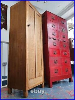 Rare 1930's Art Deco Heals Single Wardrobe/Locker in Pine. Vintage/Cupboard/Hall