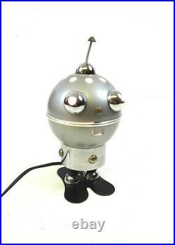 Rare 70s Space Age Robot Tin Table Lamp Vintage Futurism MID Century