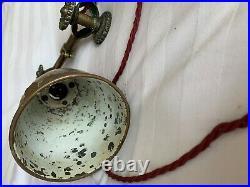 Rare Antique Vintage Brass Dugdills Daisy Wheel Work Desk Lamp, Light. YORK