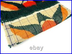 Rare Eames Panton Abstract MID Century Rug Vtg Wall Art Wool Carpet Colani Era