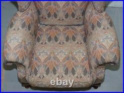 Rare Original Vintage Liberty London Ianthe Upholstered Wingback Armchair