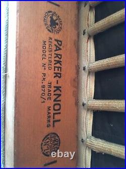 Rare Parker Knoll Armchair Model 970/1 Mid Century Vintage Green Retro
