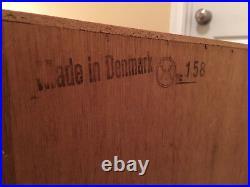 Rare Pristine Vintage, high end teak and teak veneer, Danish Modern Mod Vanity