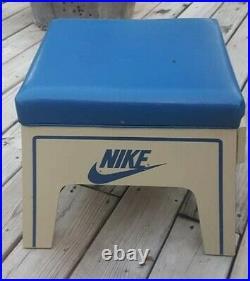 Rare Rare Rare Vintage C 1970's Nike Salesman Shoe Stool Pull Out Display Wood