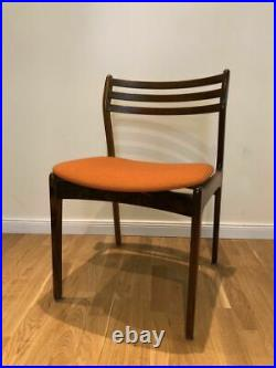 Rare Set of 6 Mid Century Danish Vintage Rosewood Dining Chairs 1950's / 1960's
