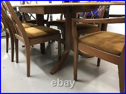 Rare Style Vintage Mid Century Nathan Teak Extending Dining Table With 6 Chairs