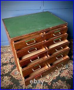 Rare Vintage 1950s British School Science Laboratory Drawers