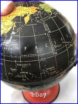 Rare Vintage 1950s Replogle 6 inch Surprise Globe Terrestrial Celestial With Card