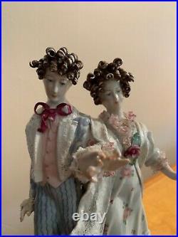 Rare Vintage/Antique Corday French Porcelain Mantle Victorian Figurines 13 DR