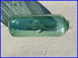 Rare Vintage Cylinder Glass Fishing Float