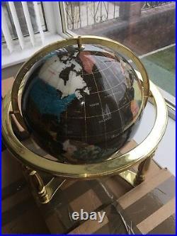 Rare Vintage Gem Stone Globe